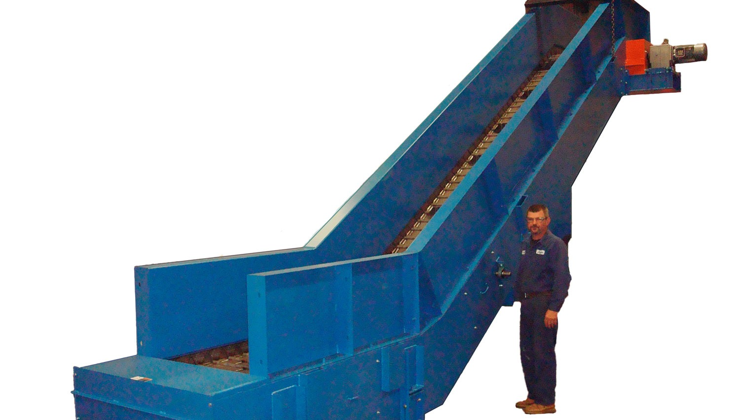 "Hinged Steel Belt Conveyor 6"" Pitch"