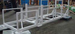 Custom made frame for telescoping conveyor