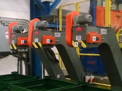 Conveyors for chip removal from Jorgensen