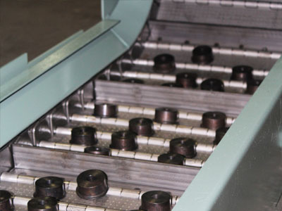 Conveyor for parts handling from Jorgensen