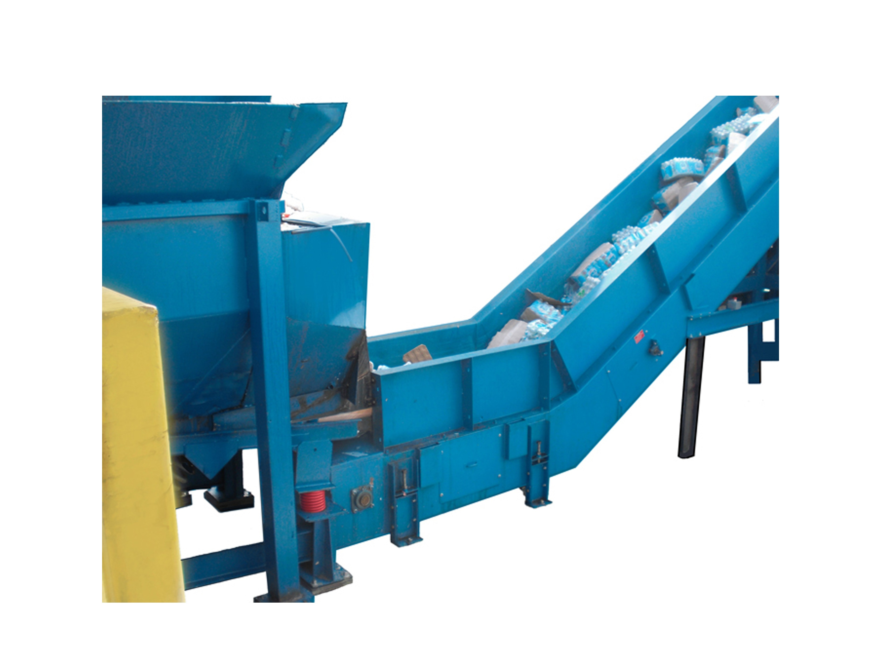 Large sorting conveyors for abrasive applications