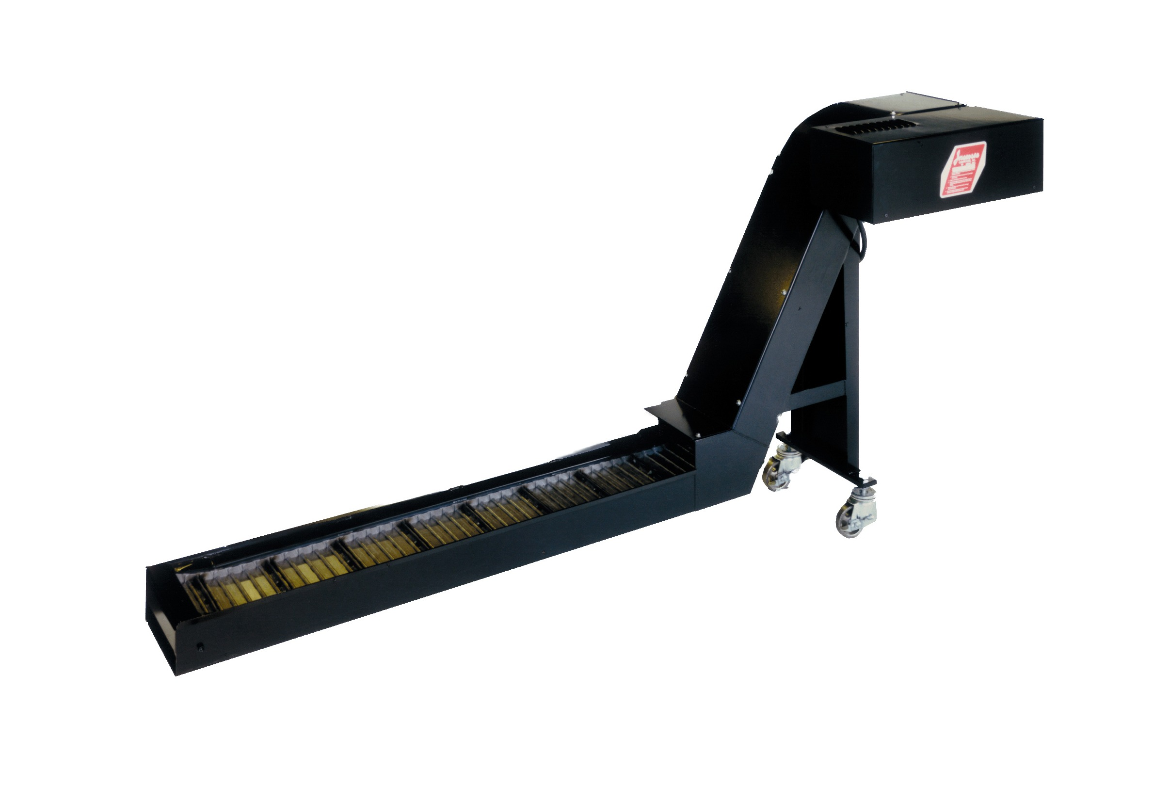Extra durable hinged belt conveyor