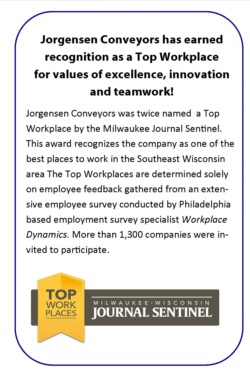 Jorgensen Conveyors Top Workplace