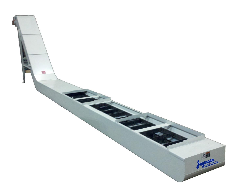 Drag flight conveyor for chip and coolant management - Jorgensen