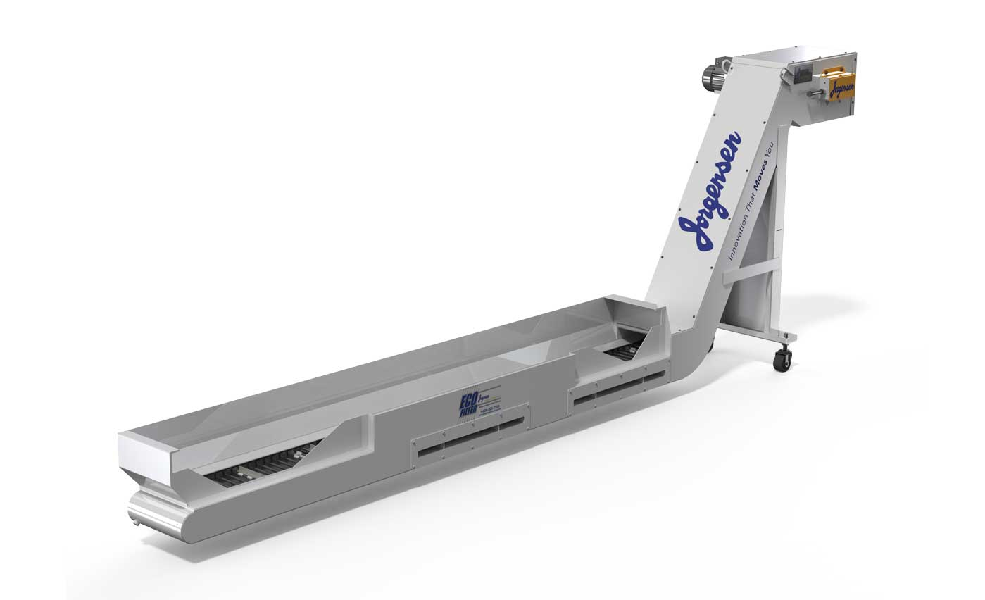 Mag Drag Chip conveyor with internal magnets for ferrous materials