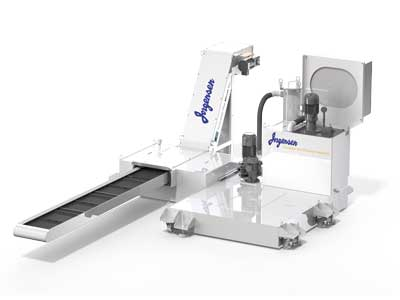 Chip conveyor with coolant filtration by Jorgensen